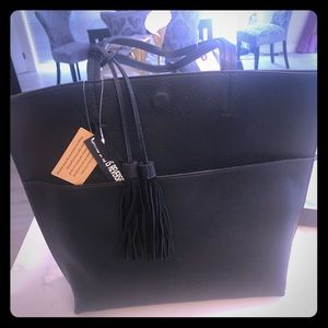 NWT black Anthro Tote